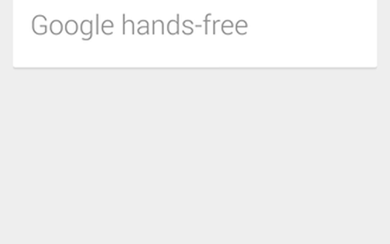 Google 'hands-free'