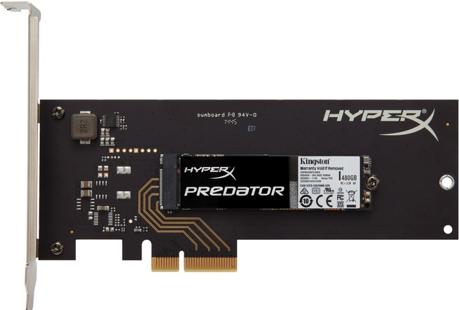 Kingston HyperX Predator SSD HHHL 480GB