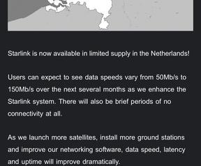 Starlink is in Nederland