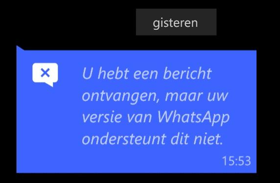 WhatsApp Live Location ontvanger W10M