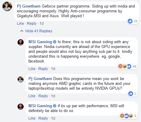 MSI Nvidia Partner Program Facebook