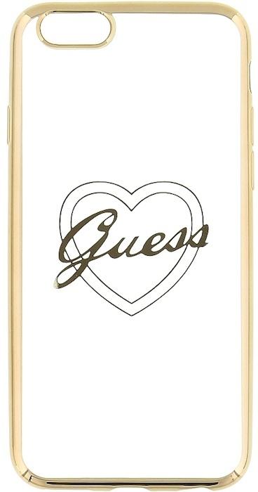 "Guess TPU Case Signature Heart - Apple iPhone 6(S) 4,7"" - Goud"