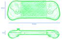Prototypes en details van Smach Z-handheldconsole
