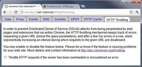 Anti-DDoS HTTP Throttling Google Chrome