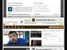 Chrome op een Galaxy Nexus met Android 4.0.2