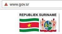 Suriname overheidssite