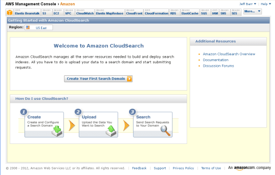 Amazon Cloud Search