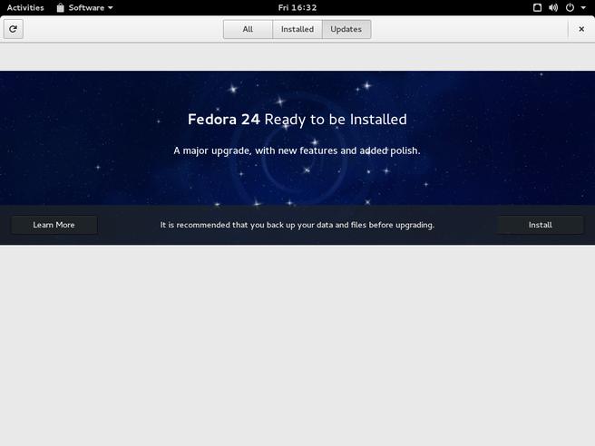 Fedora 23 naar 24 upgrade