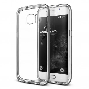 Verus Crystal Bumper Samsung Galaxy S7 edge Case - Steel Silver