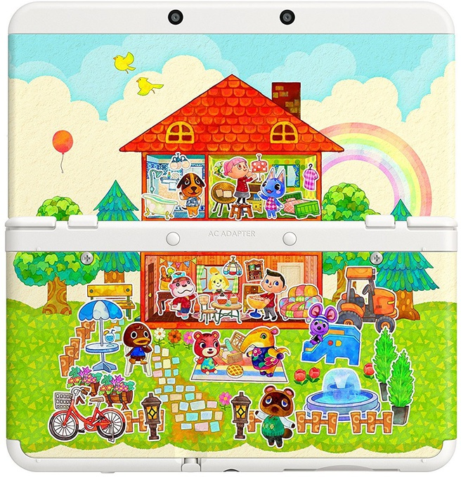 Nintendo 3DS New + Animal Crossing Happy Home Designer + Faceplate Zwart