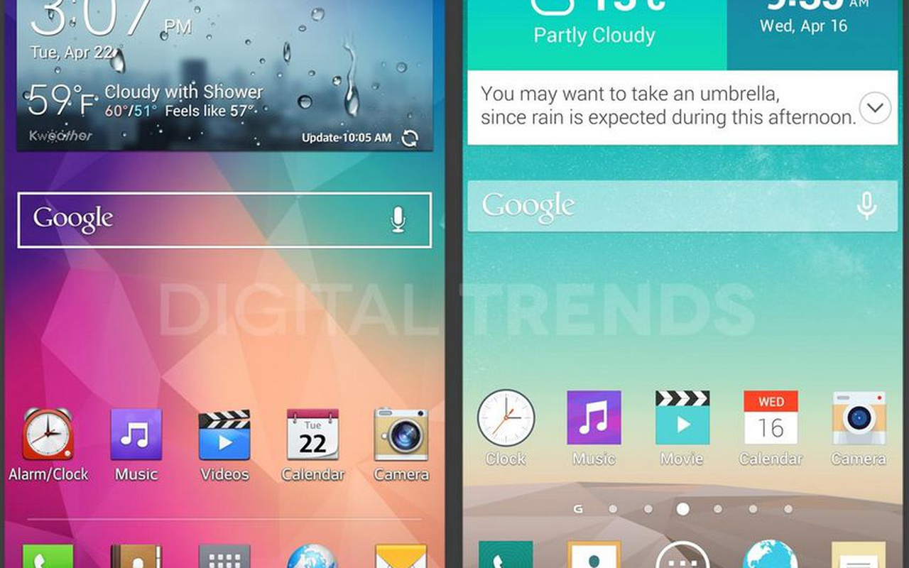 Screenshots Android-skin LG voor G3