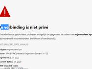KPN-certificaat is verlopen