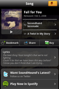 SoundHound met Spotify