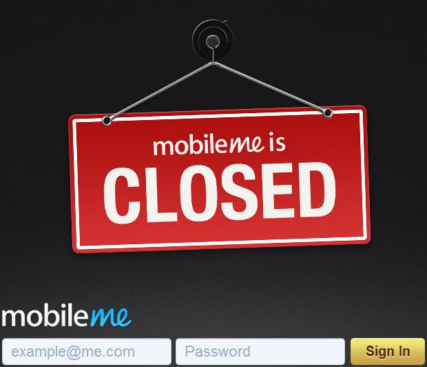 MobileMe - gesloten