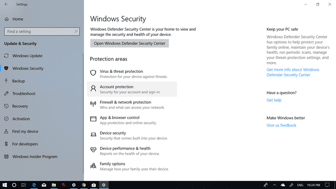Windows 10 Spring Creators Update Security