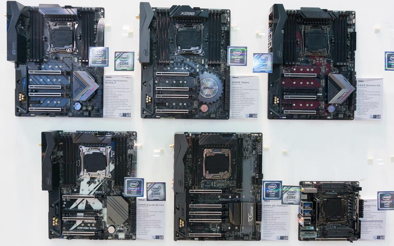 ASRock X299-moederborden op de Computex
