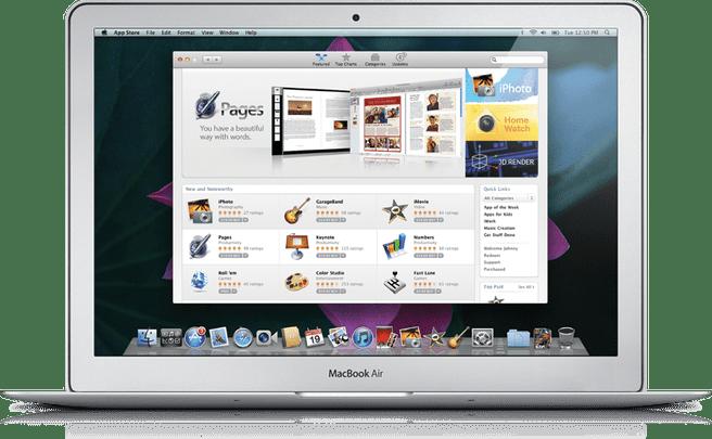 Apple App Store voor Mac OS X
