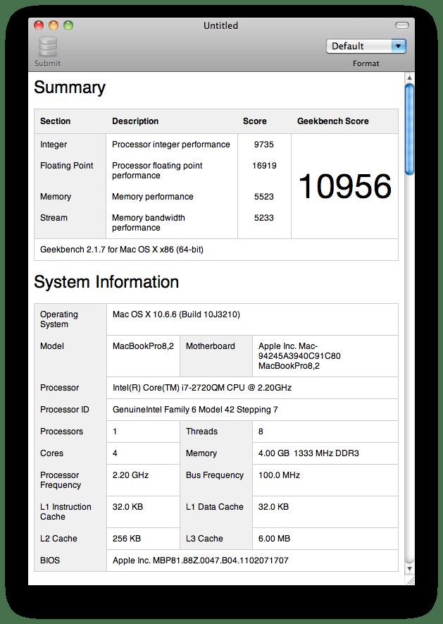 Geekbench 64-bit