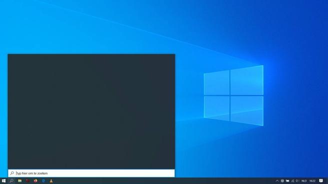 Windows 10 Zoek leeg veld