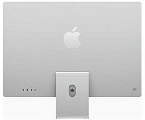 "Apple iMac 24"" Retina 4.5K (2021) M1, 8-core GPU, 8GB, 256GB ssd (Qwerty toetsenbord), Zilver"