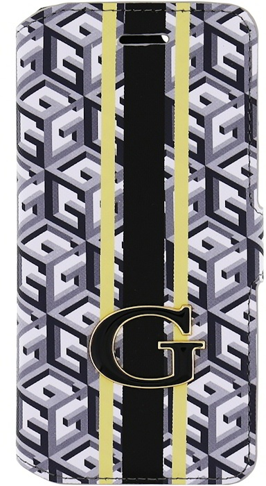 Guess G-Cube Folio Book Case for Samsung Galaxy S6 Edge - Black