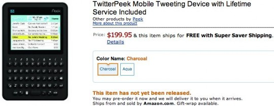 Twitterpeek op Amazon