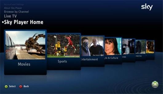Iptv van Sky op Xbox Live