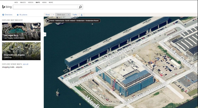 Tweakers HQ in Bing Maps Birdseye View