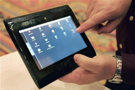 Vermoedelijk een vroeg prototype van een Motorola-tablet met Android