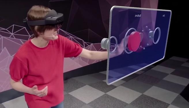 HoloLens 2: knop indrukken