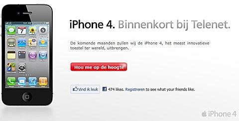 iPhone 4 bij Telenet