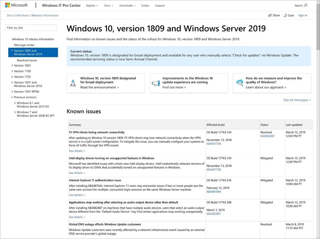 Microsoft laat gebruiker kiezen of Windows 10 grote updates