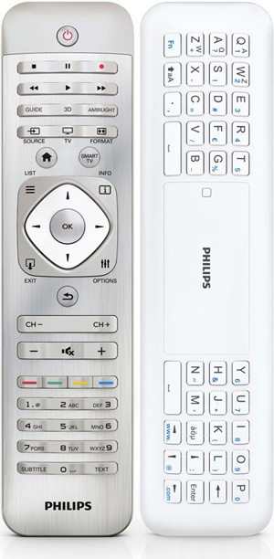 Philips 2012 tv-remote met qwerty toetsenbord