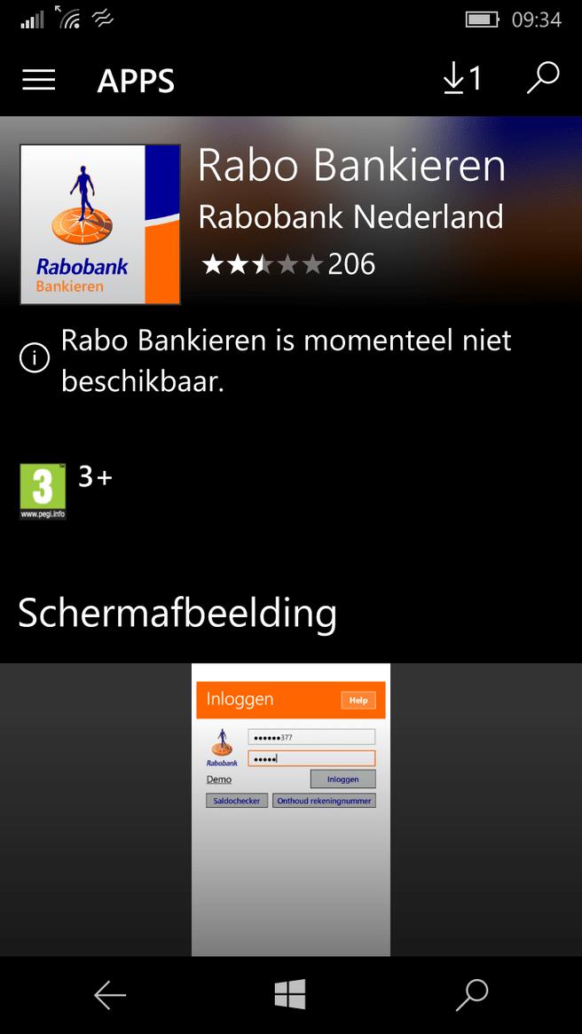 Rabo Bankieren App Windows 10 Store