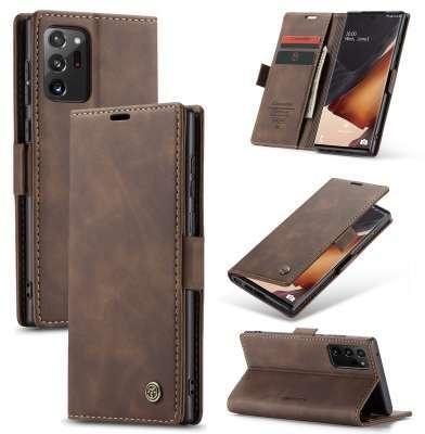 Caseme Samsung Galaxy Note 20 Ultra Retro Wallet Case - Coffee