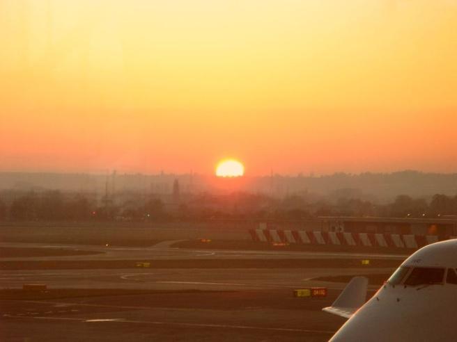 Zonsondergang Heathrow