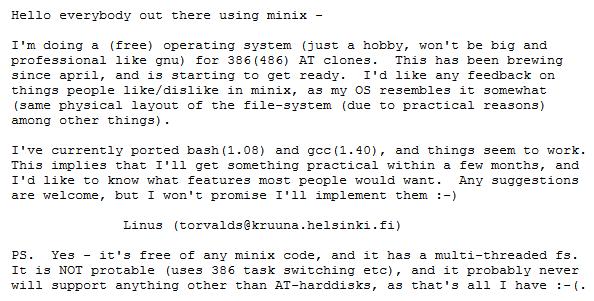 linux 1991