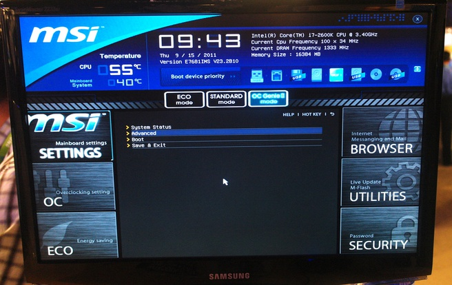 MSI: nieuwe uefi-interface