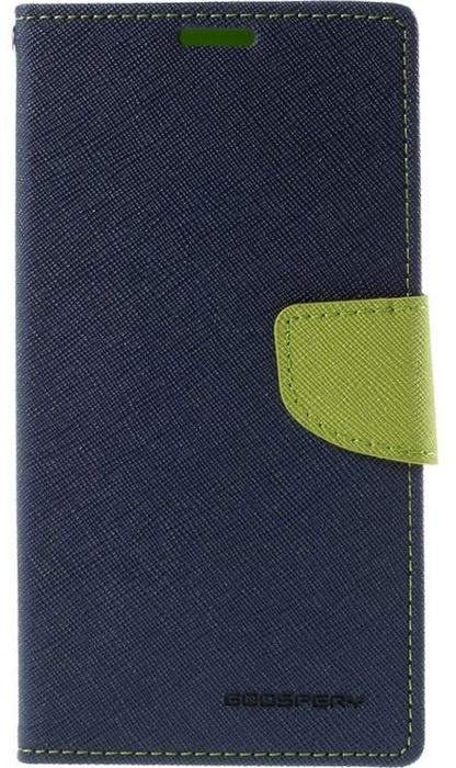 Mercury Fancy Diary WalletCase - Samsung Galaxy S6 Edge - Blauw Blauw