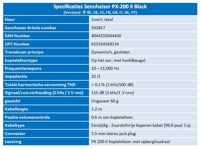 PX 200 - II Specsheet