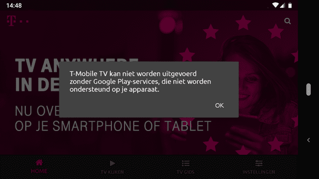 Screenshot Android zonder Google
