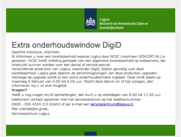 Logius: DigiD plat om kwetsbaarheid op servers te verhelpen (bron: @wol)
