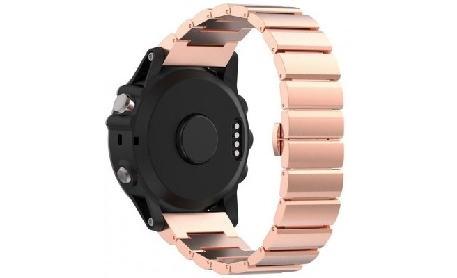 qMust Metalen armband Chain Garmin Fenix 3 / Fenix 3 HR - Rose Goud