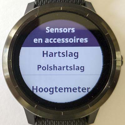 Garmin Vivoactive 3: instellen sensors en accessoires