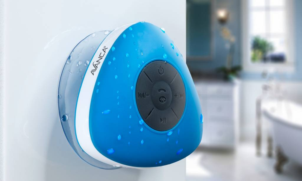Badkamer Speaker Bluetooth : Avanca waterproof bluetooth speaker blauw misha userreviews
