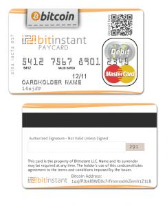 Bitcoin-creditcard van BitInstant
