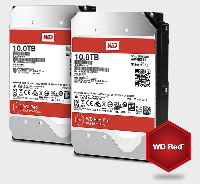 WD Red 10TB-hdd's