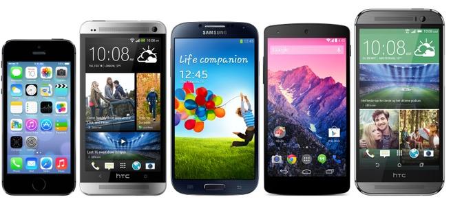 HTC One (M8) - vergelijking met andere smartphones