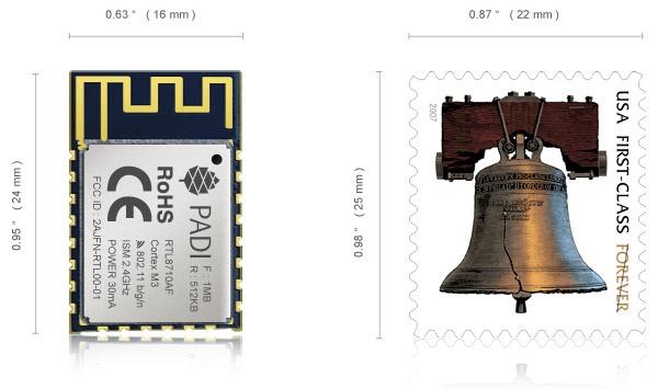 PADI-IoT-Stamp Pine64 postzegel