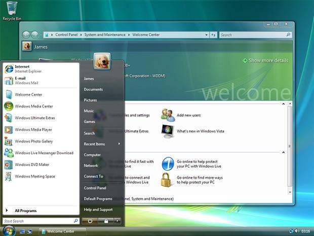 Windows: van operating system tot user interface - Vista en Windows 7 -  Achtergrond - Tweakers